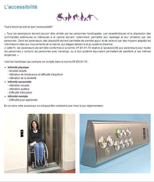 Accesibilite ascenseurs
