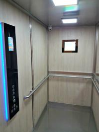 Cabine d ascenseur avec afficheur multimedia