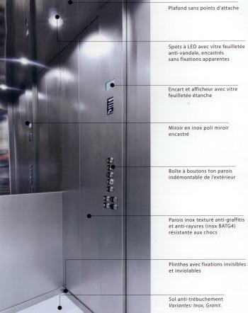 Cabine d ascenseur en inox anti vandale