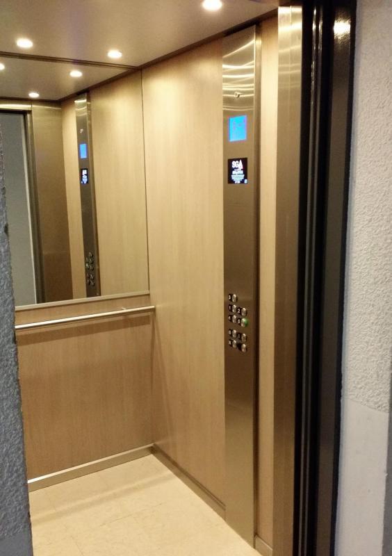 Habillage personnalise d ascenseur oise