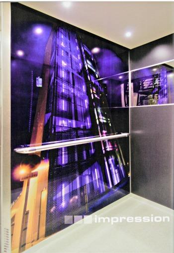 Paroi de cabine d ascenseur avec impression personnalisable